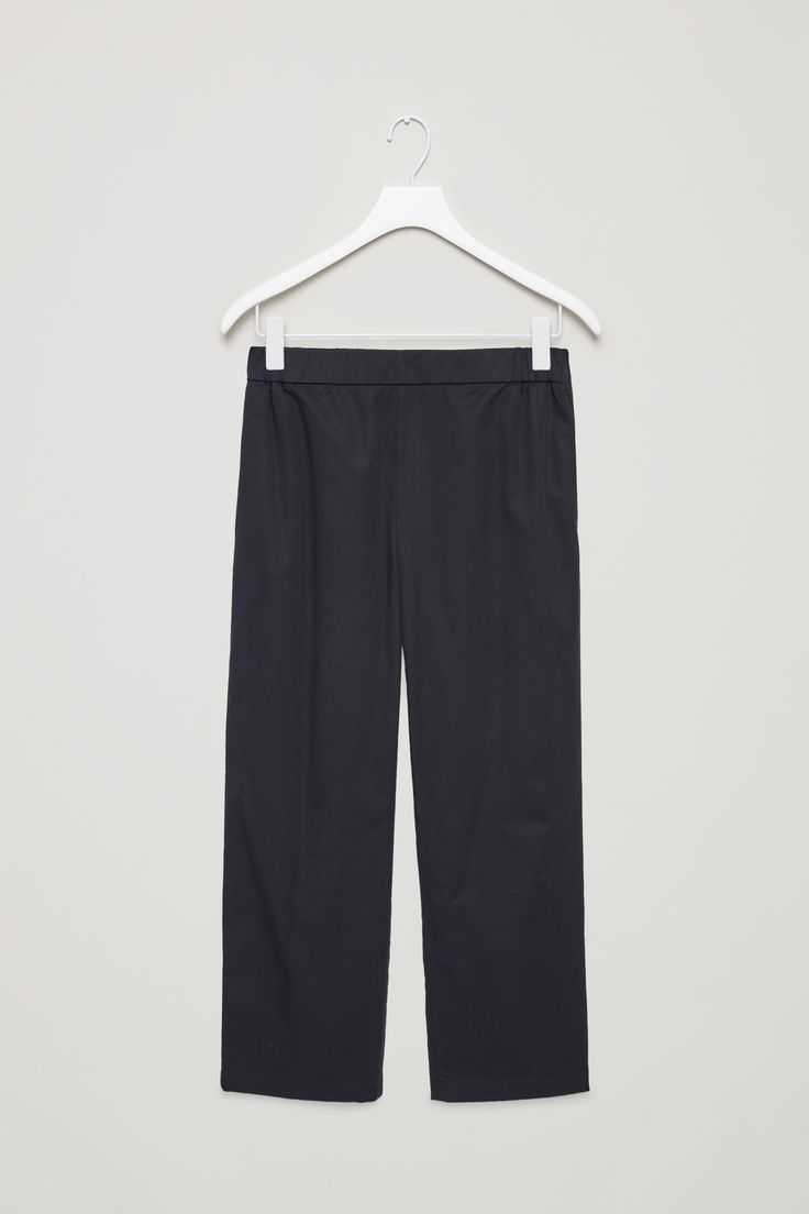 COS   Cropped cotton poplin trousers