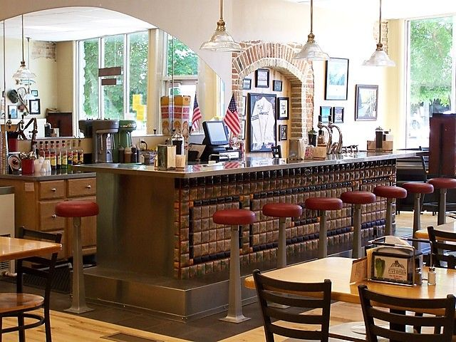 17 best images about soda fountains and malt shops on for Old fashioned pharmacy soda fountain