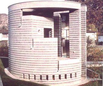 Mario Botta  Biana Residence  Losone, Ticino, Switzerland  1987-1989
