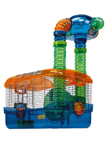 Treat your hamster to more than a boring cage and rattling wheel. This three-part habitat is sure to amuse your critter all day long, whether he's in the tunnels, the tower or the wheel. The brightly colored living quarters will be right at home in your child's bedroom. $39.44. #pets #holidays #hamster