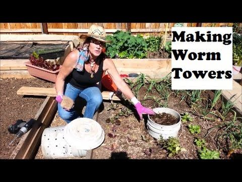 """A real handy and functional item to have in your garden is a worm tower. Not only are the worms fertilizing your soil, but you have a handy """"compost garbage""""..."""