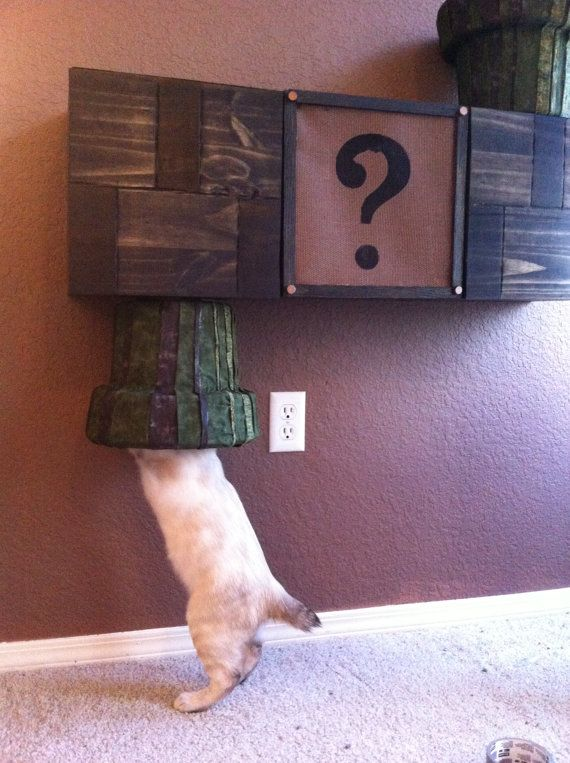 Sure you love your cats, but do you love them enough to build them a Super Mario…