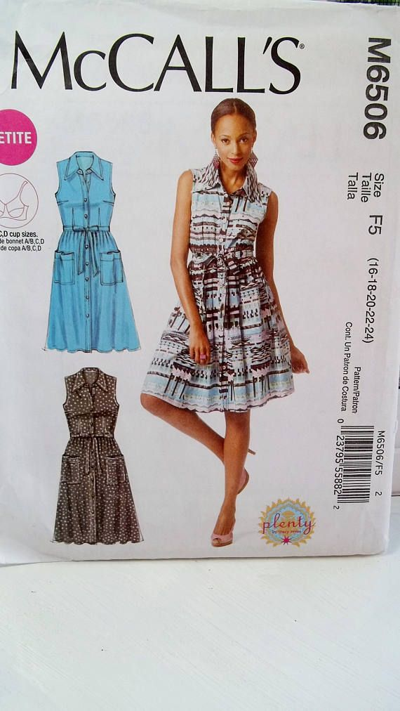 Plus Size Fashion Dress McCall\'s M6506 Sewing Pattern | Sewing: Plus ...