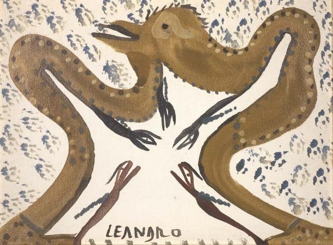 s.t. (Скульптура),  40x30 cm - Ezechiele Leandro (1905-1981) tecnica mista su tela