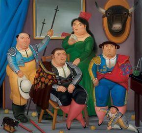 """Foto: Escena de familia. Fernando Botero Fernando Botero: """"Era cortito de valor para ponerme delante de un novillo, pero tal vez gracias a eso me volví pintor. Porque era tal mi afición que me la pasaba dibujando toros. No era que tuviera interés en la pintura, sino que tenía interés en los toros, en dibujar naturales y pases de pecho. Pero de dibujar toros pase a dibujar"""". Por cierto, esta obra se vendío en una subasta en Nueva York por un importe de 1.700.000 €. #Toros"""