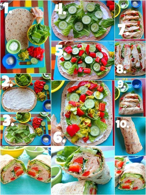 vegetarian turkey wrap