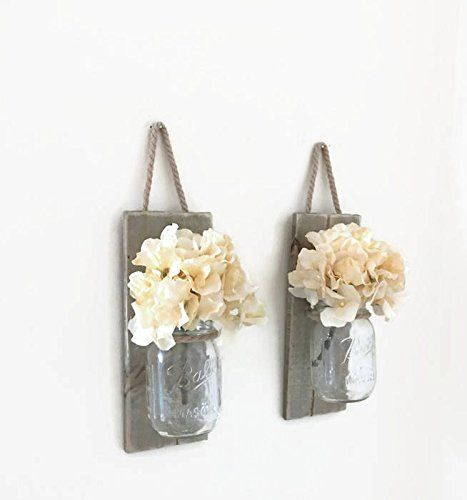 Mason Jar Wall Sconce (SET OF TWO) Hand Crafted Rustic Wa... https://www.amazon.com/dp/B06XT5THMT/ref=cm_sw_r_pi_dp_x_d3XmAbV87C3RT