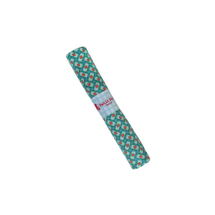 Coupon pur coton CALLISTO  GRANIT TURQUOISE  - 75 x 50 cm