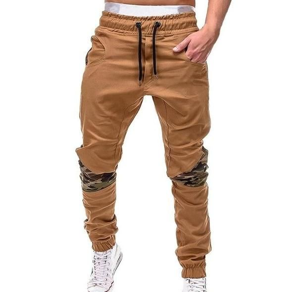 2018 Men Camouflage Casual Pants Patchwork Sweatpa…