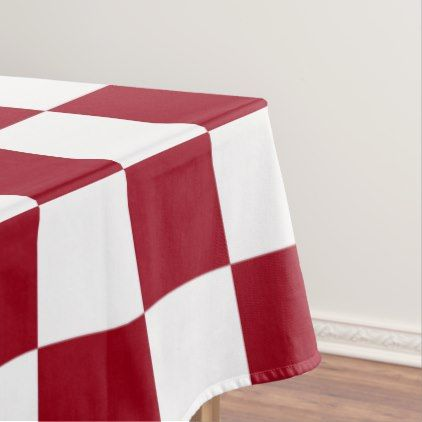 Checkered Burgundy and White Tablecloth  $84.40  by SimplyFunDesigns  - cyo customize personalize diy idea