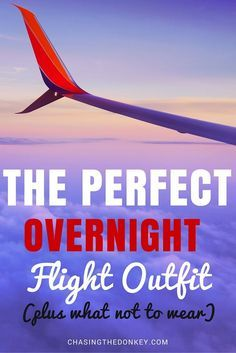 What is the perfect plane outfit? It has to be comfortable and stylish, so here is what we suggest....