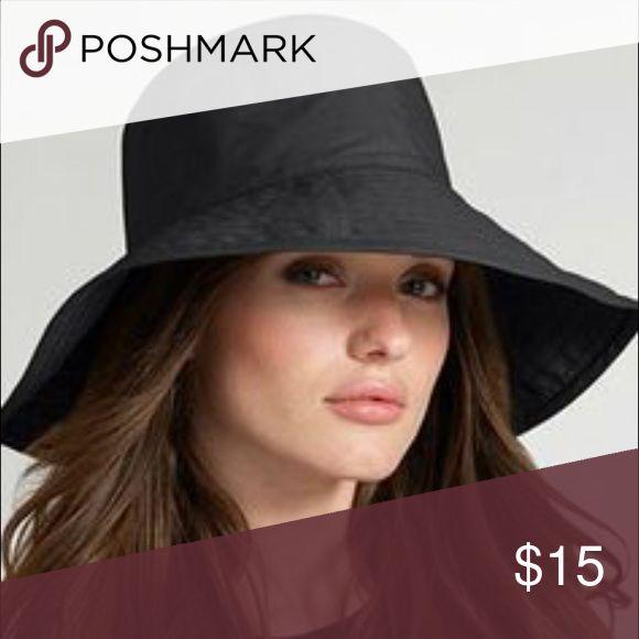 Black tote rain hat So adorable! Accessories Hats