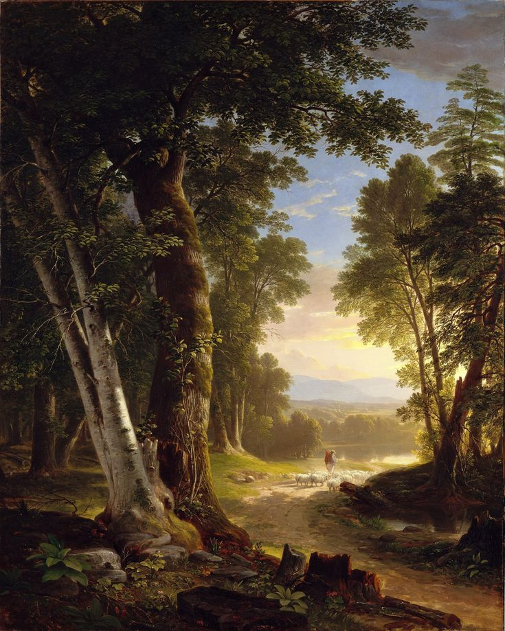 Asher B. Durand - The Beeches [1845], oil on canvas