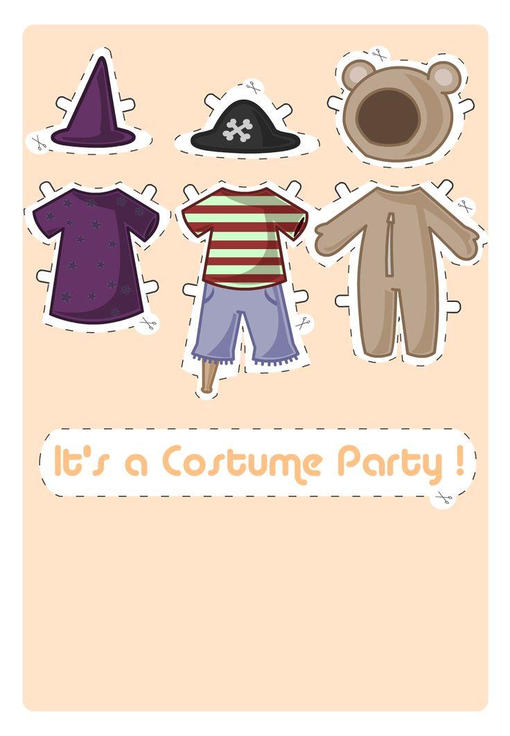 Liczba najlepszych obraz w na temat Invitations Cards na – Free Printable Halloween Costume Party Invitations