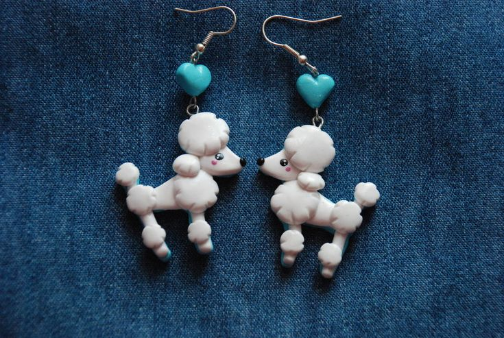 Poodles love earrings by Libellulina.deviantart.com on @deviantART