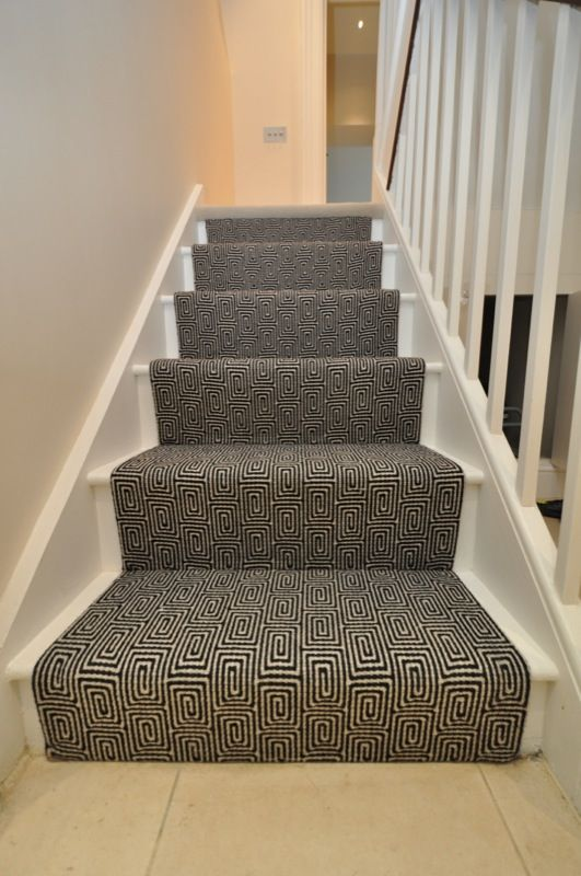 Best Stair Runner Flat Weave Black Escargot Hartley Tissier 400 x 300