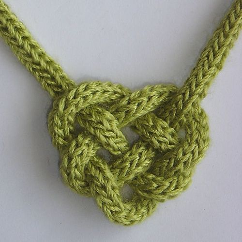 Celtic Heart Knot  Use a french knitting tool - fun