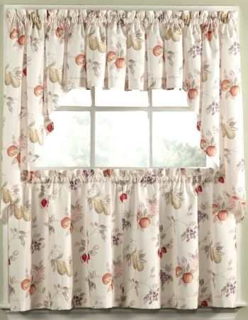 Kitchen Tier Curtain Sets With Valences