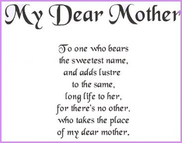 Best poem on mother mother poems and quotes best mother for Short poems for daughters from mothers