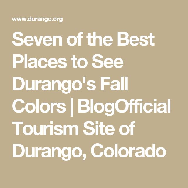 Seven of the Best Places to See Durango's Fall Colors | BlogOfficial Tourism Site of Durango, Colorado