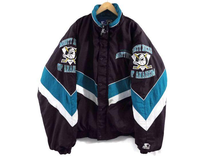 VTG Anaheim Mighty Ducks Starter Jacket - Large - 90s Clothing - Vintage Clothing - Mens Jacket - Hockey - NHL - Ducks Jersey - Los Angeles by BLACKMAGIKA on Etsy