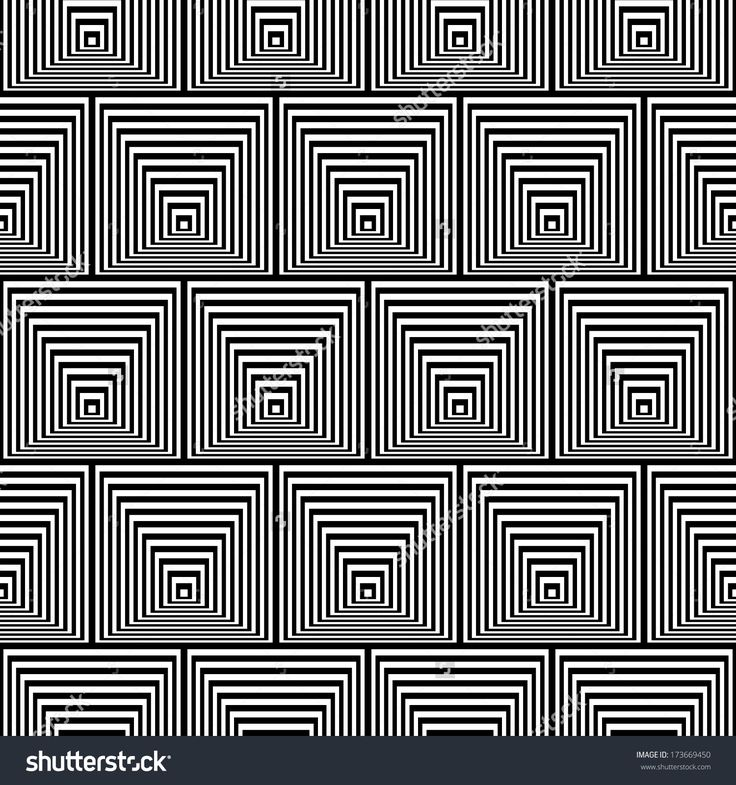Pattern with Optical Illusion -? Black and White Opt Art Seamless