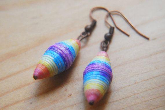 Hey, I found this really awesome Etsy listing at https://www.etsy.com/listing/193361903/upcycled-paper-bead-earrings-beaded
