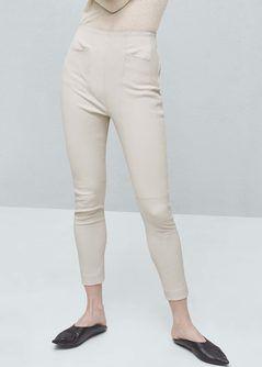 Premium - gekruiste linnen broek - Broeken voor Dames | MANGO Nederland