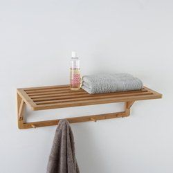 Futy Bamboo Shelving Unit with 4 Hooks La Redoute Interieurs