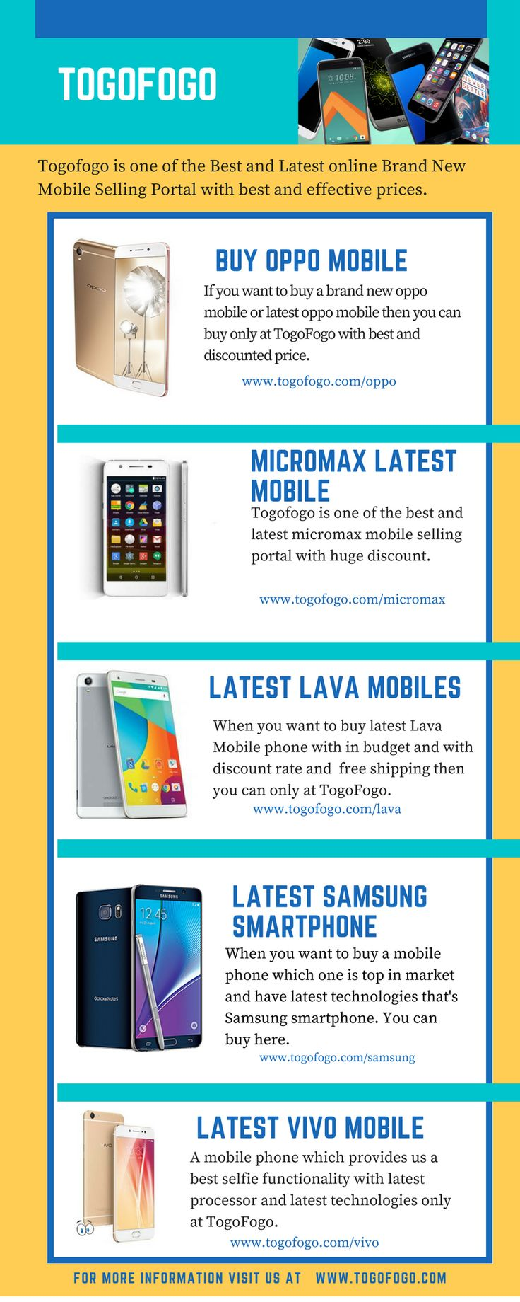 Togofogo is one of the best online brand new mobile phone selling portal with affordable prices. Here you can buy low range mobile with best condition and effective prices. Here you can also buy mobile phone, Laptop and Tablets at affordable prices.