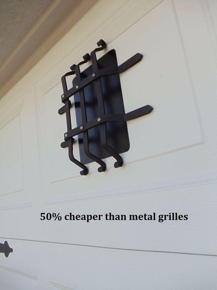 magnetic garage door decorative hardware kit carriage house faux speakeasy grill - Garage Door Decorative Hardware