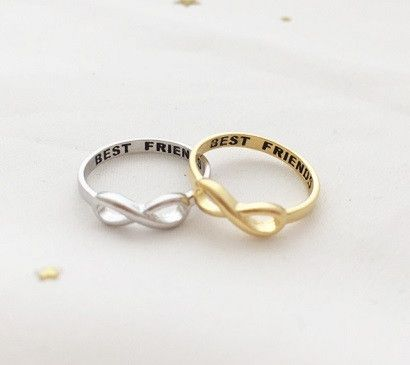 Sterling silver 'Best Friends' ring                                                                                                                                                                                 More