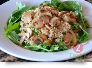 Mushroom Quinoa with Rocket & Garlic