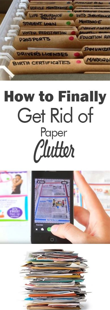 Clutter, clutter free living, home cleaning, home organization, DIY home organization, getting rid of paper clutter, paper free home.