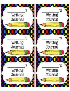 Free Journal Labels (Science, Writing, Math, Spelling, Reading)