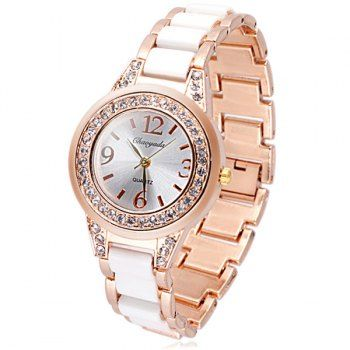 SHARE & Get it FREE | Delicate Quartz Watch with Diamonds Analog Indicate Steel Watchband for WomenFor Fashion Lovers only:80,000+ Items·FREE SHIPPING Join Dresslily: Get YOUR $50 NOW!