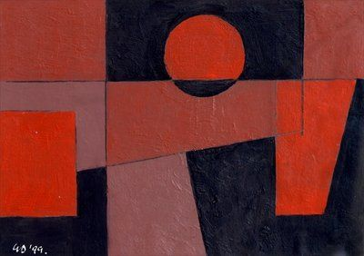 Related Reds with Black, 1999 by George Dannatt