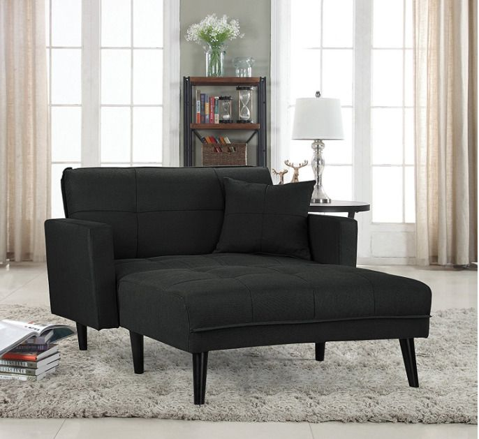 Max Relax Divani Roma.Oversized Chaise Lounge Chair Large Recliner Modern Sleeper Sofa
