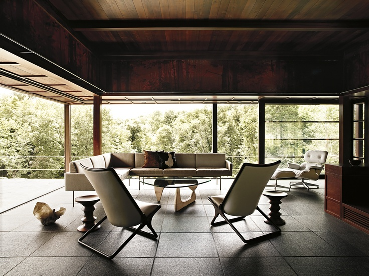 Herman Miller Collection: Love wood ceilings with tile/stone floors.