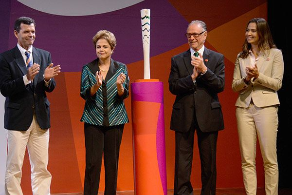 An Up-Close Look at the Rio 2016 Olympic Torch Design - http://www.psfk.com/2015/07/rio-2016-olympic-torch-design-olympic-games.html
