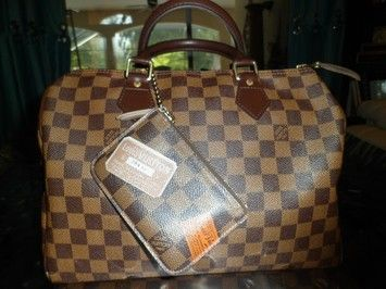 Louis Vuitton AUTHENTIC LOUIS VUITTON SPEEDY 30 & EBENE TRUNKS & BAGS CLES KEY POUCH LIMITED