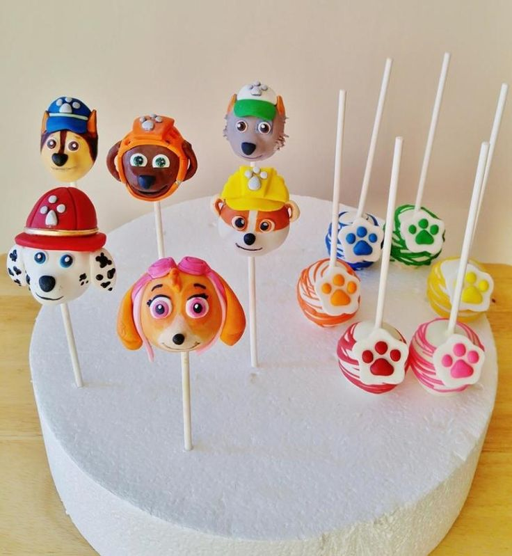 Marshall, Skye, Zuma, Chase, Rubble and Rocky Cake POPS! These little guys took so long to make! (longer than cake!!) Thanks for looking Enza ~ Sweet-E