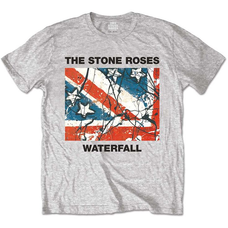 Stone Roses Men's Tee: Waterfall Wholesale Ref:STRTS07MG