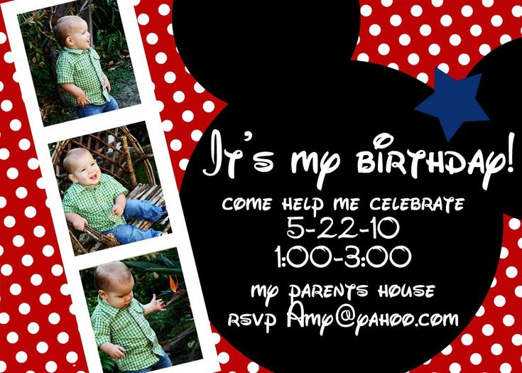57 best Mickey Mouse 1st Birthday Party Ideas images on Pinterest - mickey mouse invitation template