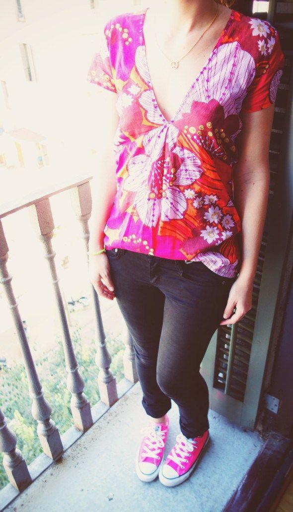 converse blouse rose antik batik cimarron jean pants pantalon ceinture or doré comptoir des cotonniers collier agatha_effected