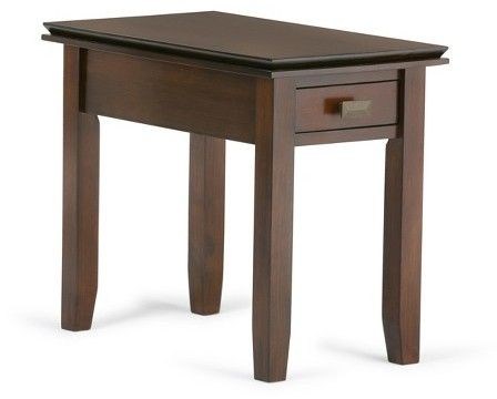 Artisan Narrow Side Table   Medium Auburn Brown   Simpli Home