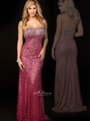 Milano Formals Prom Dresses Strapless