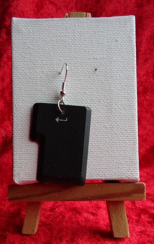 Boucle d'oreille touche de clavier Entrée 1 : Boucles d'oreille par 4-nutty-addict
