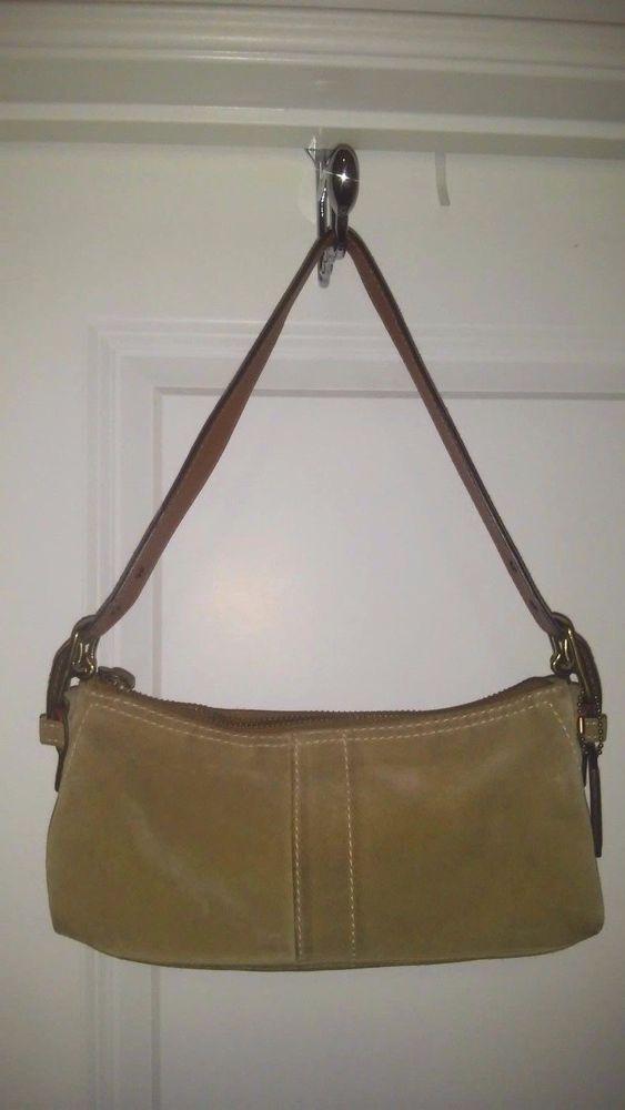 COACH Hamptons 7470 Suede Soft Demi Adjustable Strap Hang tag Bag 5x3x10 #Coach #ShoulderBag
