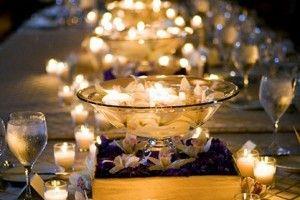 floating candle wedding centerpieces | Wedding Centerpieces | Weddings | SuperWeddings.com